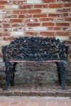 Iron bench in Georgetown. Photo by Flickr user SdotCruz.